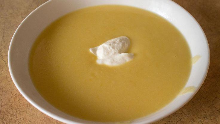 Вегетарианский суп-пюре из цветной капусты