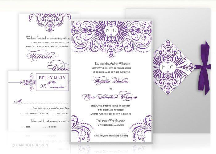 Gatsby Custom Wedding Invitation Self Assembly Kit