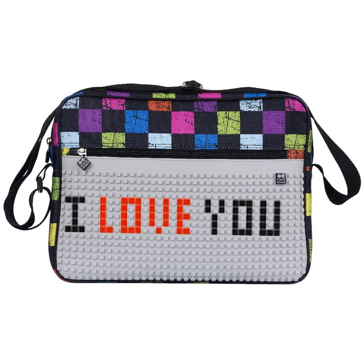 PIXIE CREW Shoulder Bag MULTICOLOUR CHEQUERED/ GREY - With pattern - Shoulder Bags  | Pixie Crew