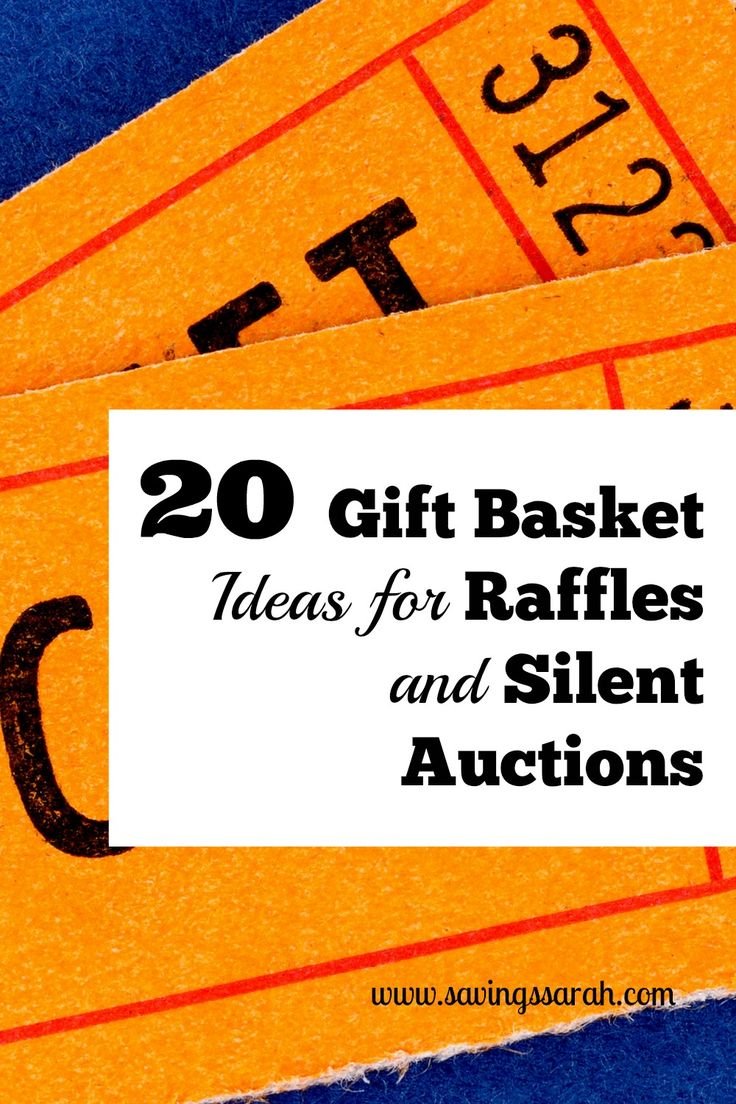 Helping with a school, church, or community fundraiser? Check out these 20 Gift Basket Ideas for Raffles and Silent Auctions.