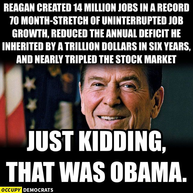 Funniest Political Memes of the Week: Obama vs. Reagan Record