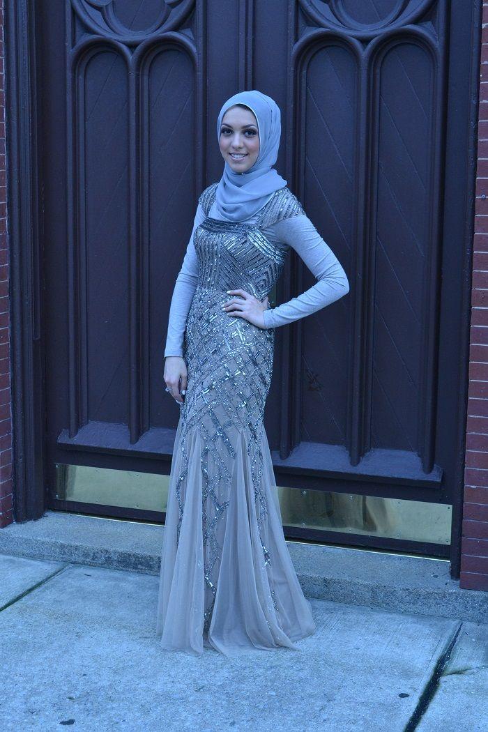 Hani Hulu Hijabi formal wear gatsby dress