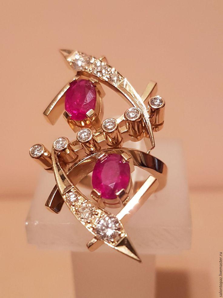 Золотое кольцо с рубинами и бриллиантами - Олег (Topaz - ювелирная галерея) - Ярмарка Мастеров http://www.livemaster.ru/item/16597753-ukrasheniya-zolotoe-koltso-s-rubinami-i-brilliantami