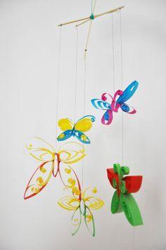 Mobile Papillon , Tuto pour faire soi-même - Loisirs créatifs