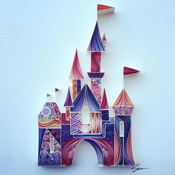 紙をクルクルして作る繊細で装飾的なペーパークイリングアート (17)