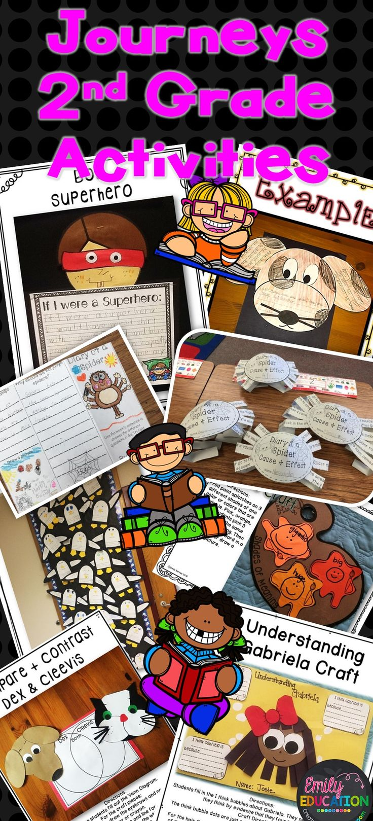 Journeys 2nd Grade Supplement Activities. This Seller has so many creative activities to help supplement the Journeys Reading Series. No seller can compare to her quality/creativity. Emily Education Creativity for the Classroom