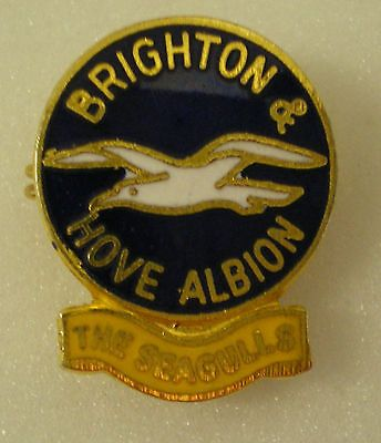 Old/vintage #football lapel pin badge #brighton & hove albion the #seagulls. coff,  View more on the LINK: http://www.zeppy.io/product/gb/2/401080824890/