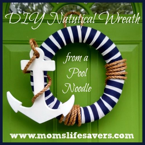 DIY Nautical Wreath | http://www.momslifesavers.com/diy-nautical-wreath/