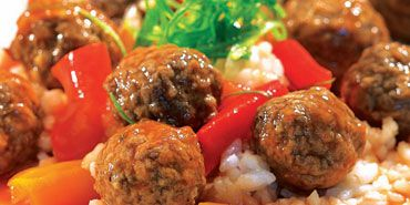 T-Fal ActiFry Sweet and Saucy Meatballs