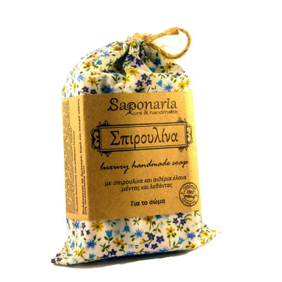 Spirulina soap with spirulina and essential oils of mentha and lavender.