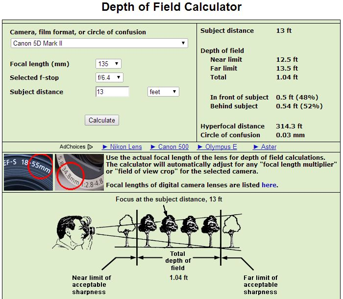 to notebook Hyperfocal Distance and DoF Calculator (050) download