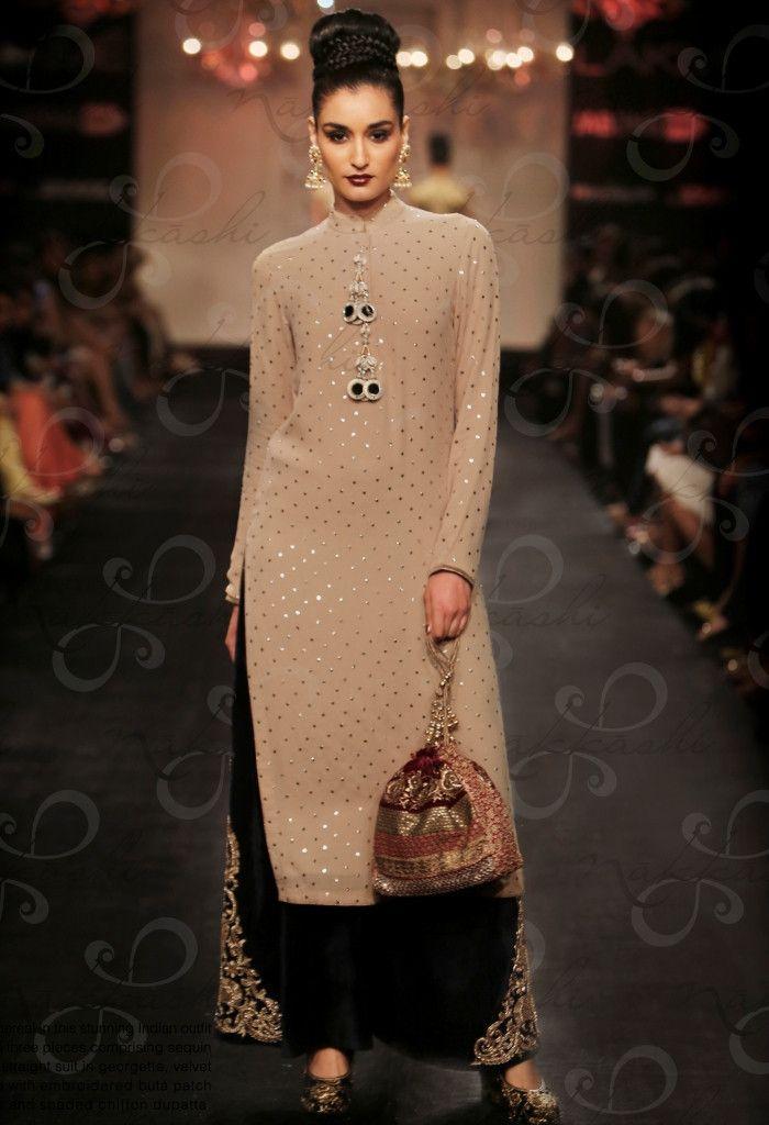 Beige Georgette Designer Salwar Kameez With Sequins Work..@ fashionsbyindia.com…