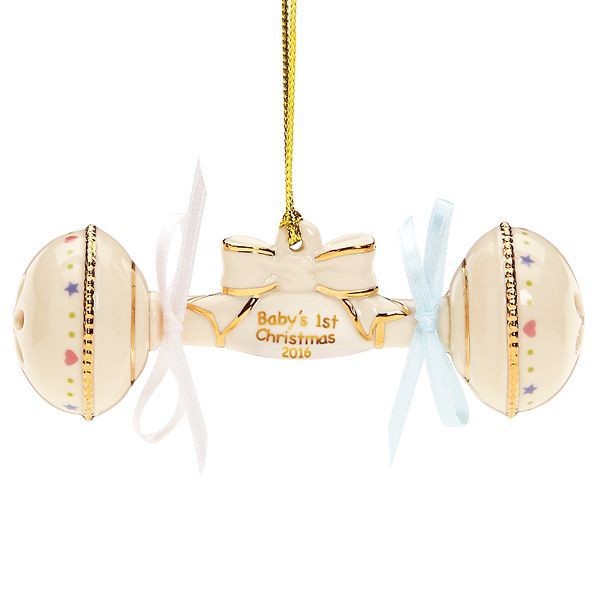 2016 Baby's First Christmas Rattle Ornament by Lenox