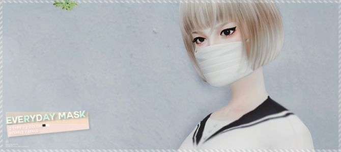 Everyday mask at Black-le via Sims 4 Updates