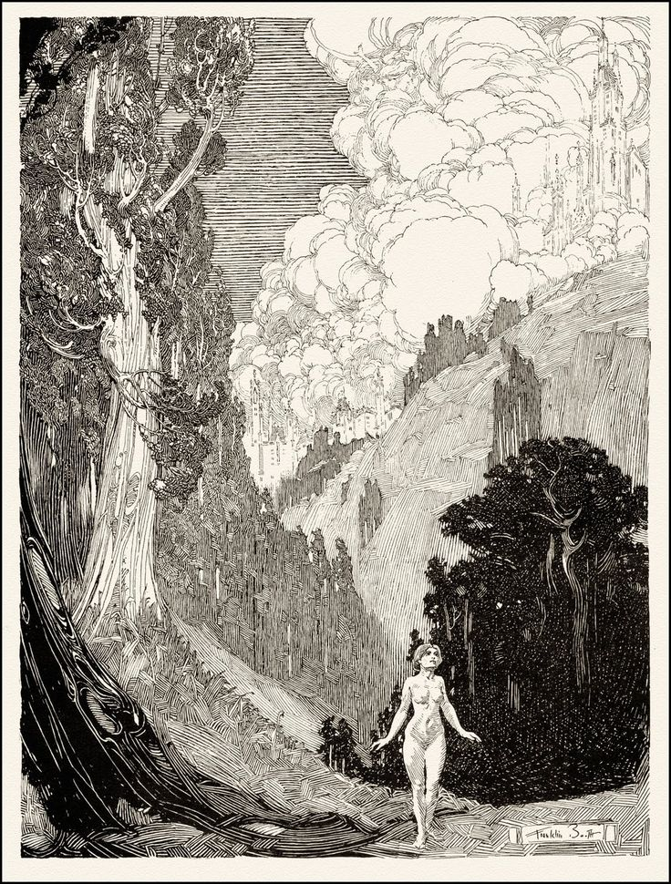 Valley of Silence, 1911, Illustration by Franklin Booth