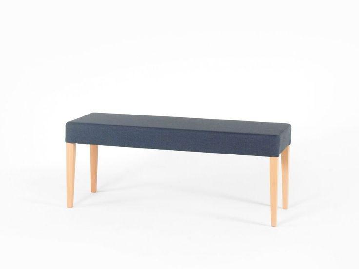 ELLI Bank ohne Rücken bequeme Sitzbank Stoffbezug Polster 120 cm versch. Farben
