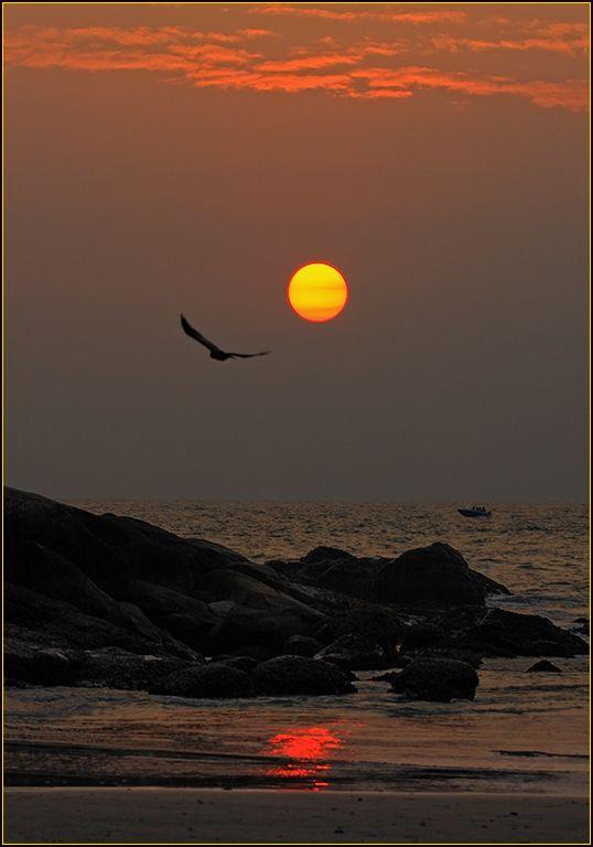Sunset in Kovalam, Thiruvananthapuram, Kerala