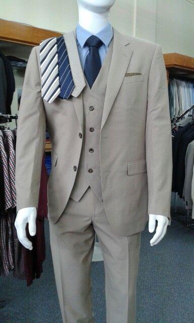 Saville Row tan suit