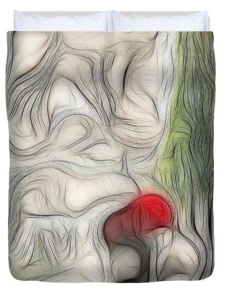 A Rose In The Way Duvet Cover by Galeria Zullian  Trompiz