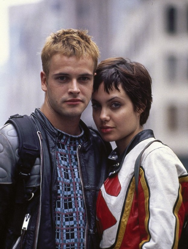 Jonny Lee Miller who is currently having a great run playing Sherlock Holmes in Elementary on ABC and his then girlfriend and wife for a short time Angelina Jolie. They were in Hackers together.