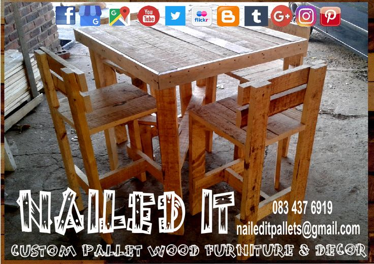 Custom Build Pallet Wood Patio & Outdoor Furniture. Everything built to each client's specific needs & requirements. Suitable for indoor & outdoor use. Contact 0834376919 or naileditpallets@gmail.com for all your inquiries or quotes #palletgardenfurniture #gardenfurniture #outdoorpalletfurniture #naileditpalletfurniture #customfurniture #palletfurnituredurban #custompalletfurniture #palletchairs #palletbenches #palletwoodchairs #palletwoodbenches #palletoutdoorfurniture