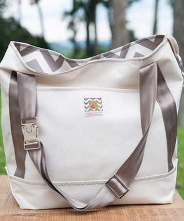 Look at this #zulilyfind! Ivory Marvin on the Move Tote by Messy Marvin #zulilyfinds