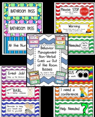 Behavior management and out of the class passes. Great for classroom management.