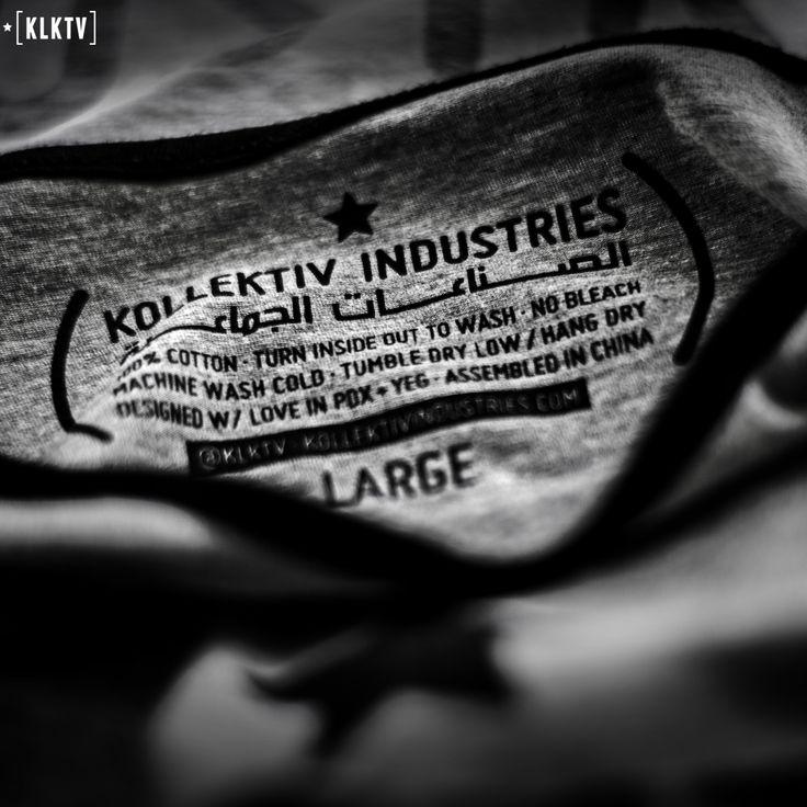 Kollektiv Design Labs T-Shirt Size Labels. Men's Fashion. Shirts. Screenprinting