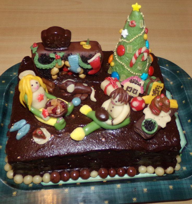 Christmas room cake