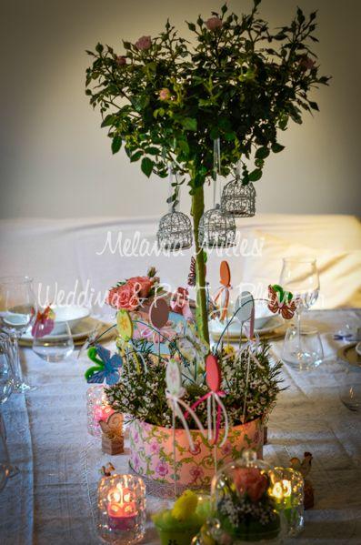 Tavola di Pasqua - Easter Centrotavola Allestimenti ... Wedding e Party Planner Catania Melania Millesi http://www.melaniamillesi.it/