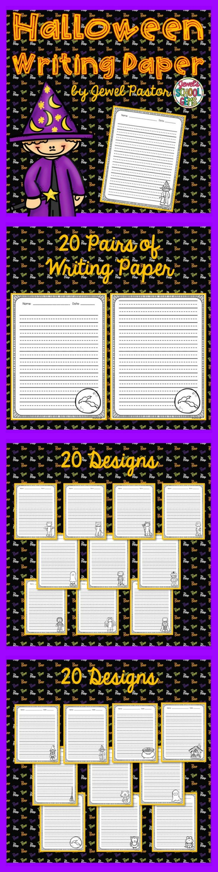 halloween writing paper for students