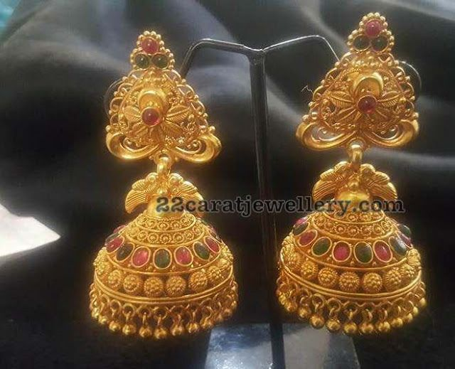 Silver Metal Antique Jhumkas Collection