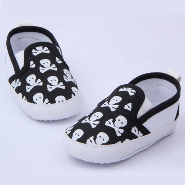 Lovely Baby Anti-slip Skull Shoes //Price: $12.69 & FREE Shipping //     #skull #skullinspiration #skullobsession #skulls