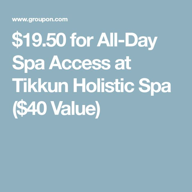 $19.50 for All-Day Spa Access at Tikkun Holistic Spa ($40 Value)