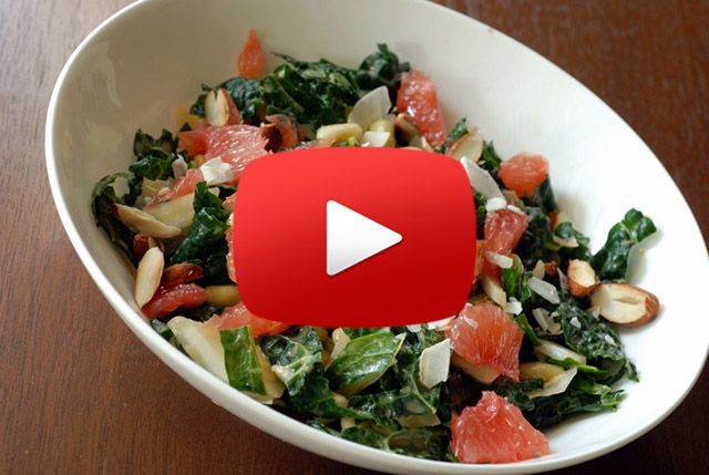 Magical Fat Burning Recipe: Kale, Grapefruit and Hazelnut Salad [VIDEO]