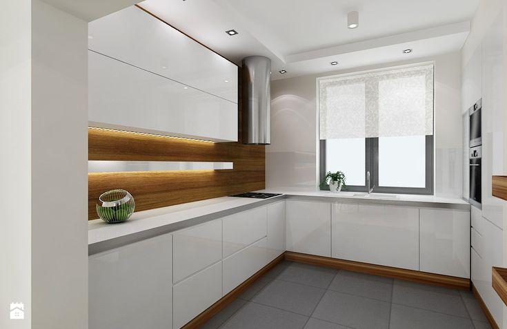 Kuchnia styl Minimalistyczny  zdjęcie od All Design   -> Kuchnia Ecru Z Czarnym Blatem