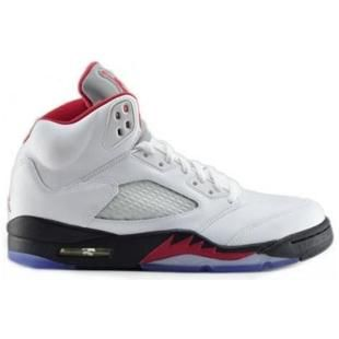 136027 100 Fire Red Air Jordan 5 Retro White Fire Red Black ( Men Women GS  Girls), cheap Jordan If you want to look 136027 100 Fire Red Air Jordan 5  Retro ...