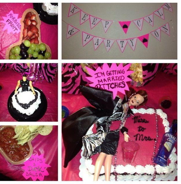 Bachelorette party cake decorations diy diy pinterest for Bachelorette party decoration ideas diy