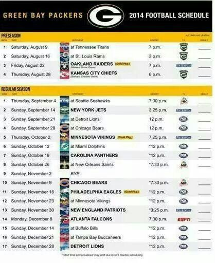 Schedule - Since we live in AL, I think trips to Nashville and St. Louis in the pre-season sound good!