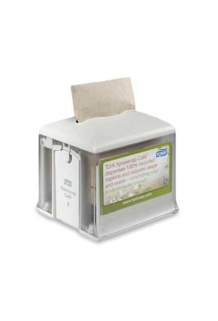 Tork Xpressnap® Café Tabletop Napkin Dispenser: Tork Xpressnap® Café Tabletop Napkin Dispenser, granite