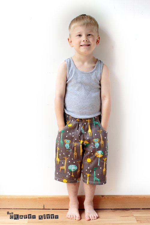 birchfabrics: FREE pdf Pattern | Knit Shorts for Kids | by The Crafty Kitty