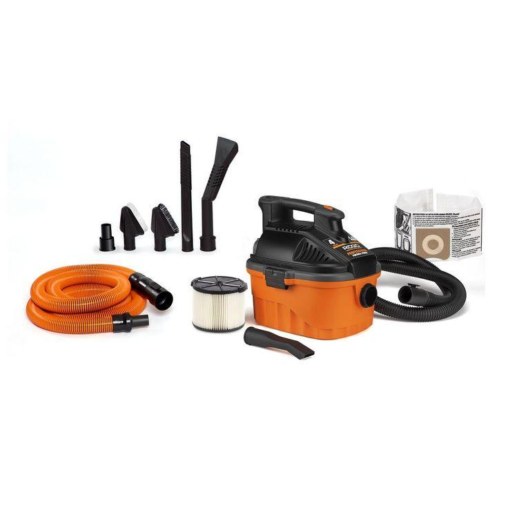 RIDGID 4 Gal. 5.0 Peak HP Portable Wet Dry Shop Vacuum