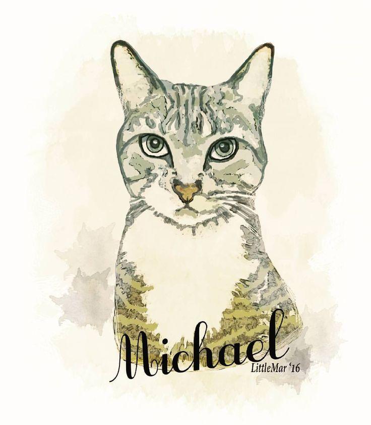 Everybody loves Michael. #portrait #digitalart #artwork #cats #illustration