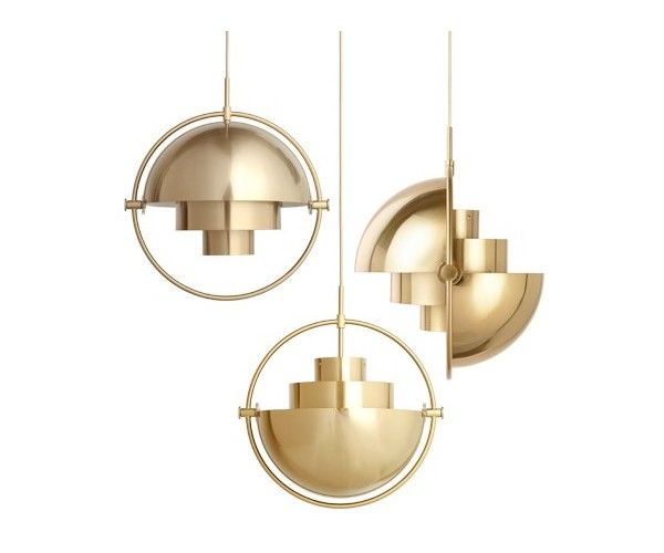 Multi Light, desenhado em 1972 por o designer dinamarques Louis Weisdorf. Re-introduzido em 2016 por GUBI.   The Multi-Lite was first drawn in 1972 when Louis Weisdorf did an exception to his own design custom of using multiple repeating elements. Instead it reflects his passion for diversity.