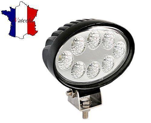 1 X 24W 12V 24V LED PHARE LAMPE OVALE DE TRAVAIL LAMPE POUR VEHICULE DE CONSTRUCTION TRACTEUR CAMION REMORQUE LAMPE POUR SUV JEEP BATEAU…