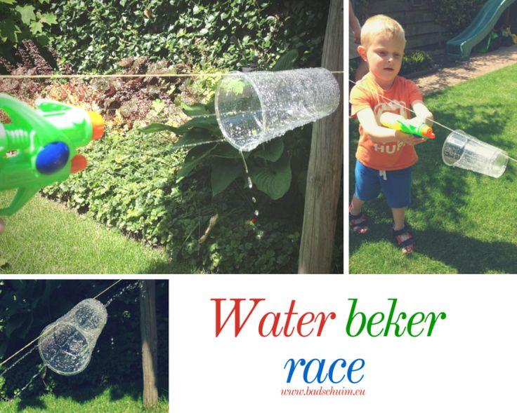 Feestspelletjes water beker race I Creatief lifestyle blog Badschuim