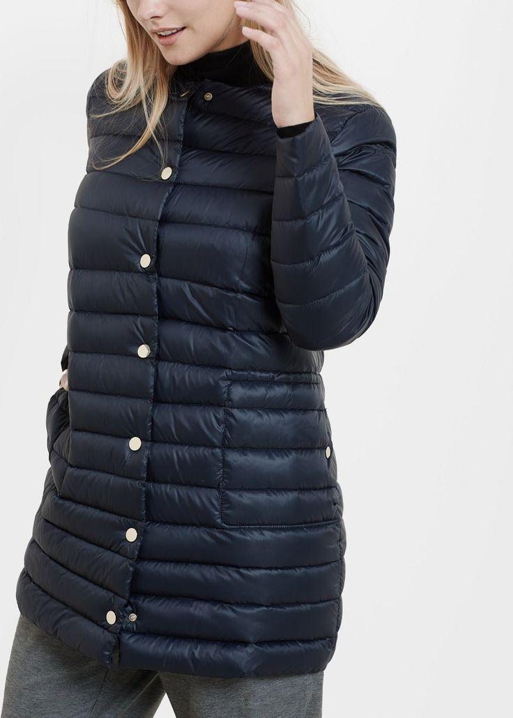 Dlouhá péřová bunda prošívaná - Kabáty a bundy Velké velikosti   Violeta by MANGO Česká republika