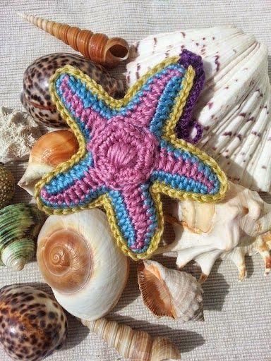 La ventana azul: 108.- Estrella de mar a crochet. Tutorial