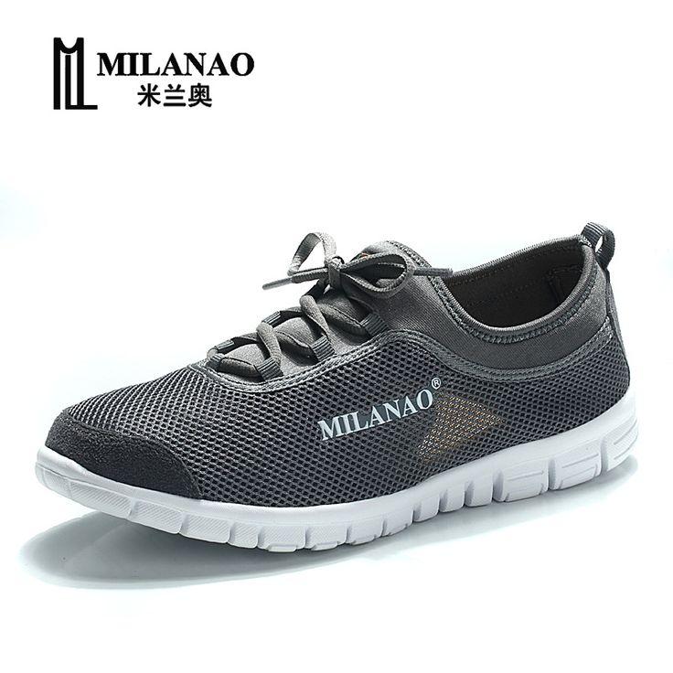 MILANAO 2016 zapatos corrientes respirables, zapatos súper ligeras zapatillas de deporte de los hombres cómodos zapatos atléticos, hombres marca sport zapatillas