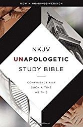 NKJV Unapologetic Study Bible: Confidence for Such a Time As This from the Emmanuel Foundation  To say this book is a study Bible is sort of a misnomer. Usually when we think of a study Bible we think of a Bible which has cross references and notes with references etc.   NKJV Unapologetic Study Bible: Confidence for Such a Time As This from the Emmanuel Foundation is different.   We read the Bible everyday and have several study Bibles each one has a little something different. Some have…